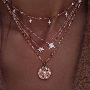 Boho Chic Star Multilayer Pendant Necklace